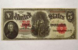 1907 $5 Wood Cutter in Near CU