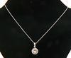 Excellent Diamond Halo Pendant Necklace in 18K