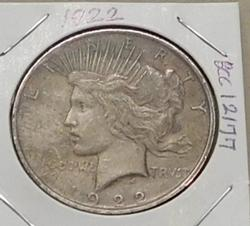 1922 Peace Dollar, circulated