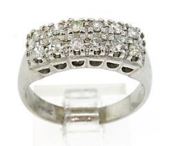 Very Nice Vintage Double Row Diamond Ring