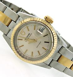 Ladies Tudor Two Tone Stainless Steel Watch
