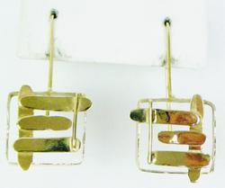 Artisan 10K Gold Free-Form Earrings