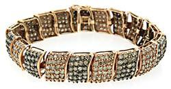 Chocolate Multi Diamond Bracelet, Certified