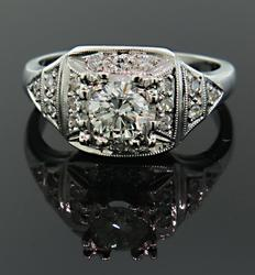 Very Impressive Vintage Diamond & Platinum Ring