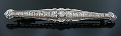Elegant Vintage Diamond Brooch