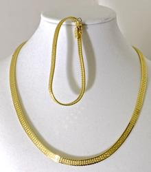 Gorgeous 18K Necklace and Bracelet Set