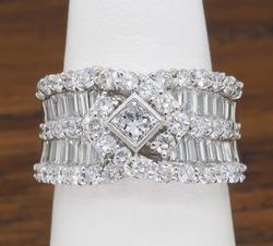 So Very Interesting Multi Diamond Ring, 18K