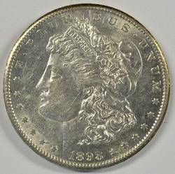 Flashy nearly BU 1898-S Morgan Silver Dollar. Key date