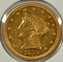 Scarcer 1879 $2.50 Liberty Gold Piece. Nice