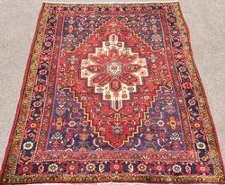 Delightful Mid Century Authentic Handmade Vintage Persian Rug