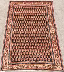 Captivating Mid Century Authentic Handmade Fine Vintage Persian Rug
