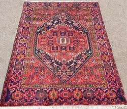 Enchanting 1960s Authentic Handmade Fine Vintage Persian Rug
