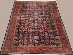 Simply Lovely 1950s Authentic Handmade Vintage Persian Meshg-Abad