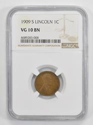 VG10BN 1909-S Lincoln Wheat Cent - NGC Graded