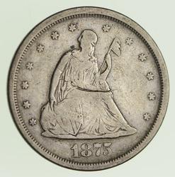 1875-S Seated Liberty Twenty Cents - Circulated