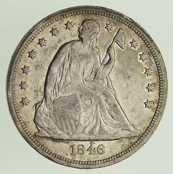 1846 Seated Liberty Silver Dollar - Circulated