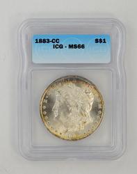 1883-CC Morgan Silver Dollar - ICG MS66