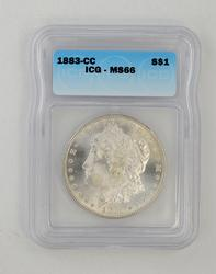 MS66 1883-CC Morgan Silver Dollar - ICG Graded