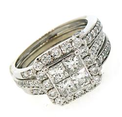 Impressive Multi Row Diamond Ring with Ring Wrap