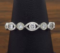 14K White Gold .75CTW Diamond Band