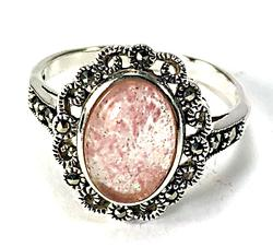 Sterling Silver Fancy Mounting Ring with Gemstone