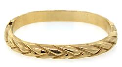 14KT Yellow Gold Braided Bangle Bracelet