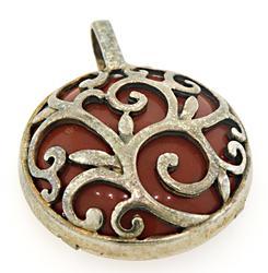 Vintage Sterling Silver Gemstone Pendant