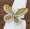 18k Yellow and White Butterfly Diamond Ring