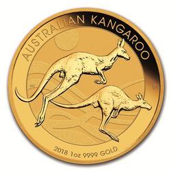2018 Australia Gold Kangaroo 1 oz .9999 Fine