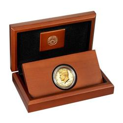 2014-W 3/4 oz Gold Kennedy Half Dollar Proof Box & COA