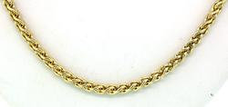 Very Nice Rounded Wheat Link Chain