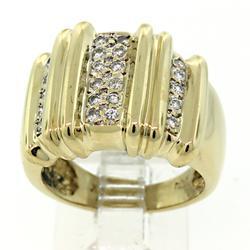 Impressive Wide Band Diamond Ring