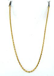 Versatile Diamond Cut Oval Link Chain in 18K