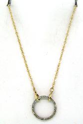 Classic Diamond Circle Pendant Necklace