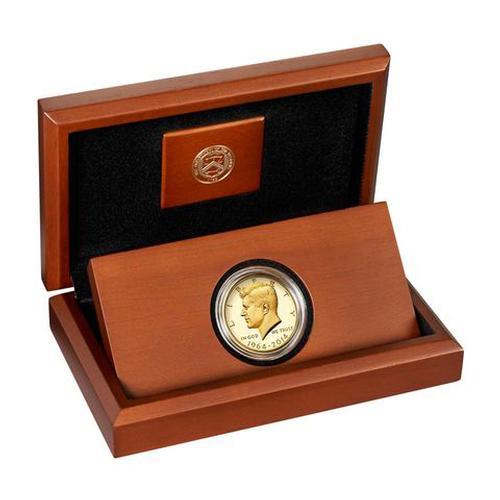 2014-W 3/4 oz Gold Kennedy Half Dollar Proof Box & COA