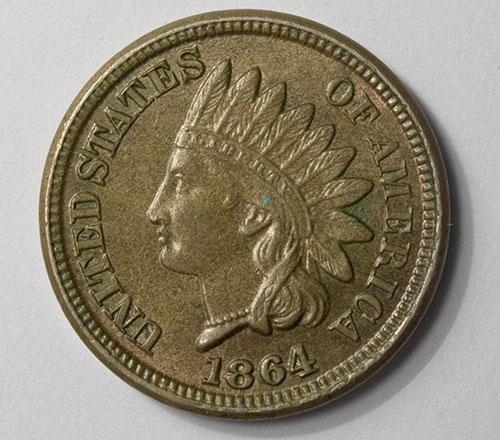 Choice 1864 Double Date Uncirculated Indian Head Cent