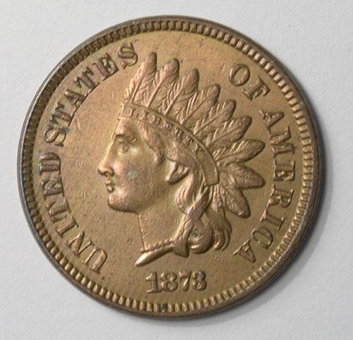 High Grade 1873 Closed 3 Indian Head Cent