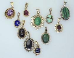 Amazing Lot of Sterling Silver Pendants