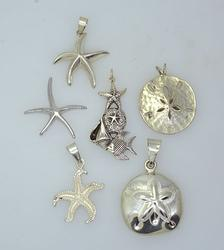 Sea Theme Sterling Silver Pendants