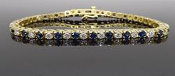 2.50CTW Diamond and Sapphire Bracelet
