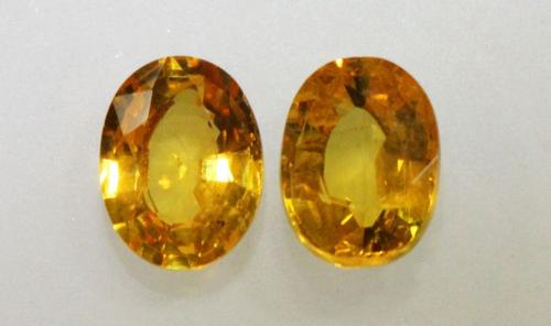 Fabulous Pair of Natural Yellow Sapphires - 3.39 cts.