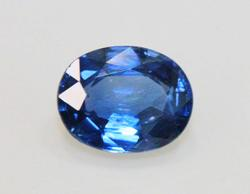 Glowing Natural Blue Sapphire -  0.90 cts.