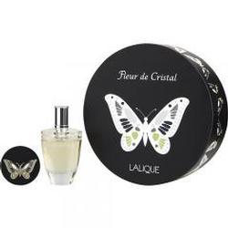 LALIQUE FLEUR DE CRISTAL by Lalique EAU DE PARFUM SPRAY 3.3 OZ & MIRROR