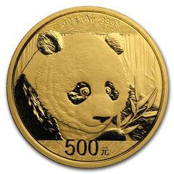 Chinese Gold Panda 30 Gram 2018 .999 Fine