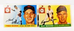 2 Topps 1955 Baltimore Orioles Baseball Cards