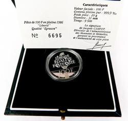 .999 Fine Silver 1986 French Liberte Coin