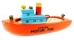 Vintage Spring Motor Tug Boat, Works