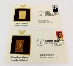 1997 1st Day Issues & 22KT Stamps, Hollywood Legends