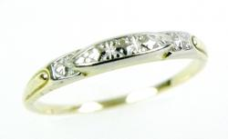 Early 2-Tone 14K Gold Band