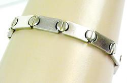 Cartier Style Italian Sterling Bracelet